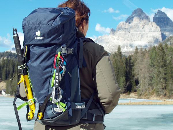 Klettergurt Seil Befestigen : Kletterrucksack deuter guide 30 sl rucksack zum klettern