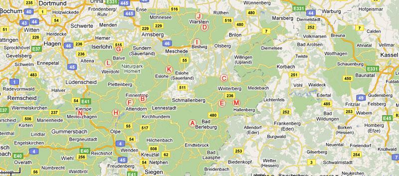Sauerland Karte Berge.Klettern Und Bouldern Im Sauerland Kletterfuhrer Zu